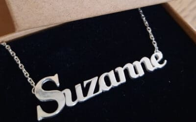 Stirling silver name necklace