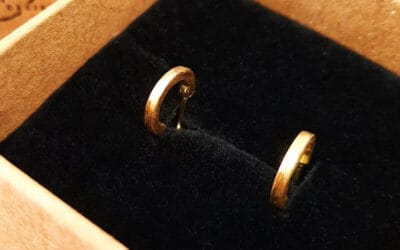 18ct yellow gold solid hoops
